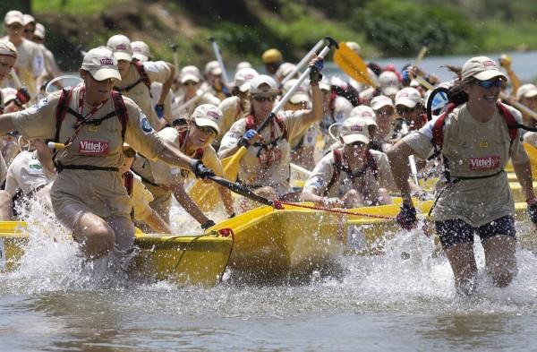 raid amazones canoe