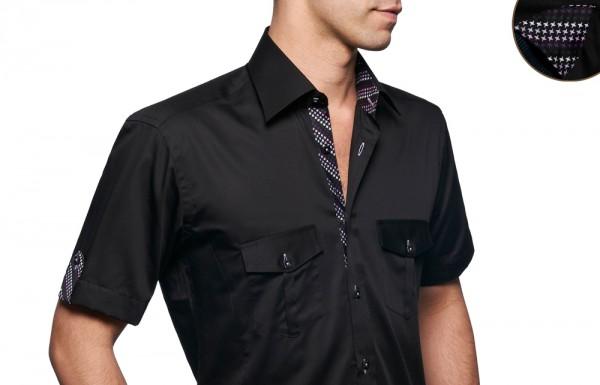 chemise couleur manche