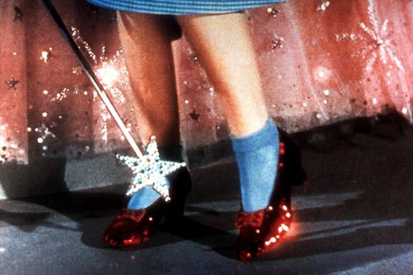 chaussures rubis magicien d'oz