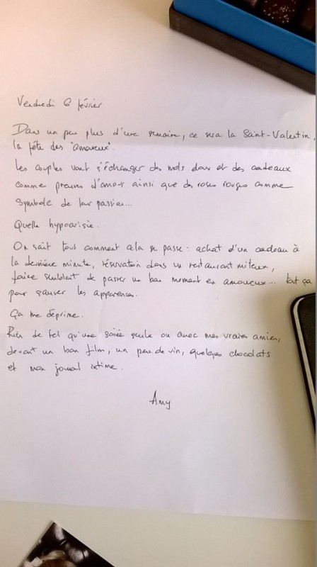 lettre amazing amy